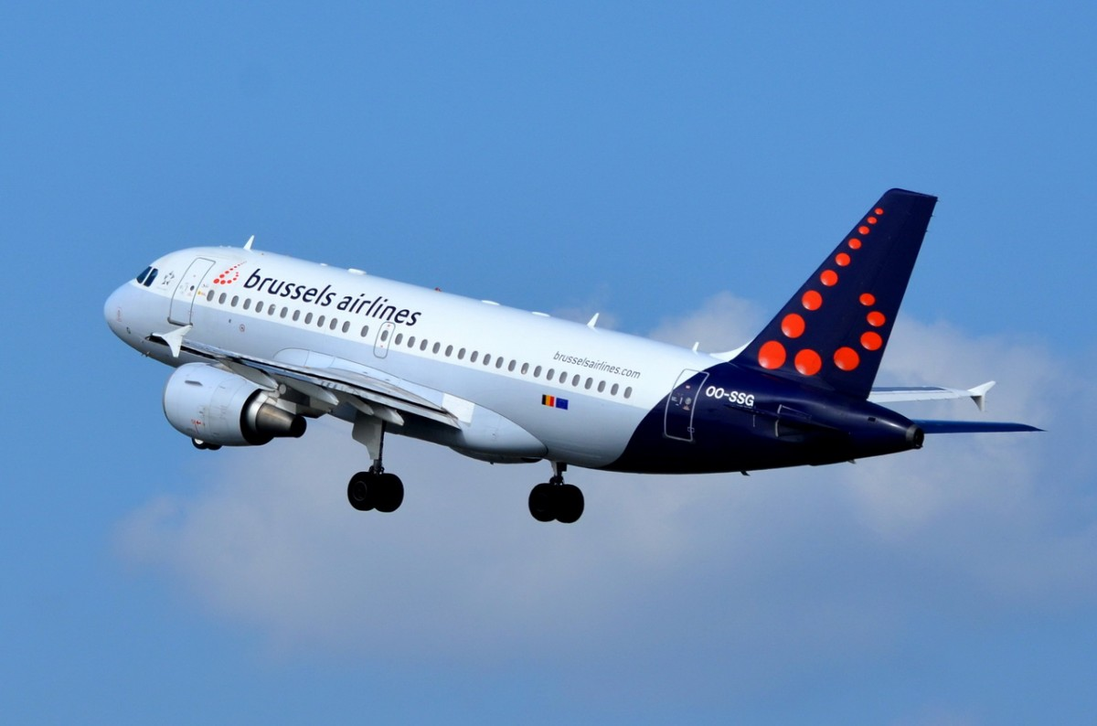 OO-SSG Brussels Airlines Airbus A319-112   gestartet am 08.09.2014 in Tegel