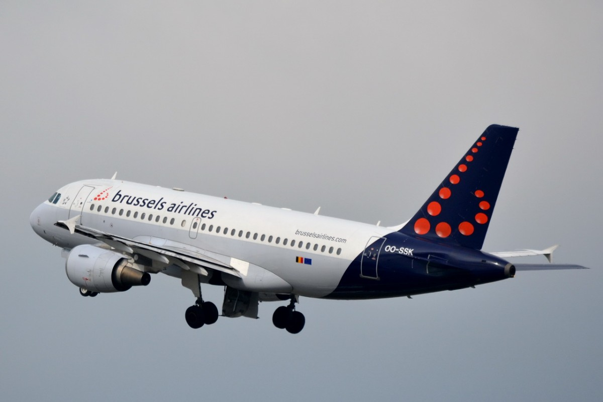 OO-SSK Brussels Airlines Airbus A319-112   gestartet in Tegel am 24.03.2014