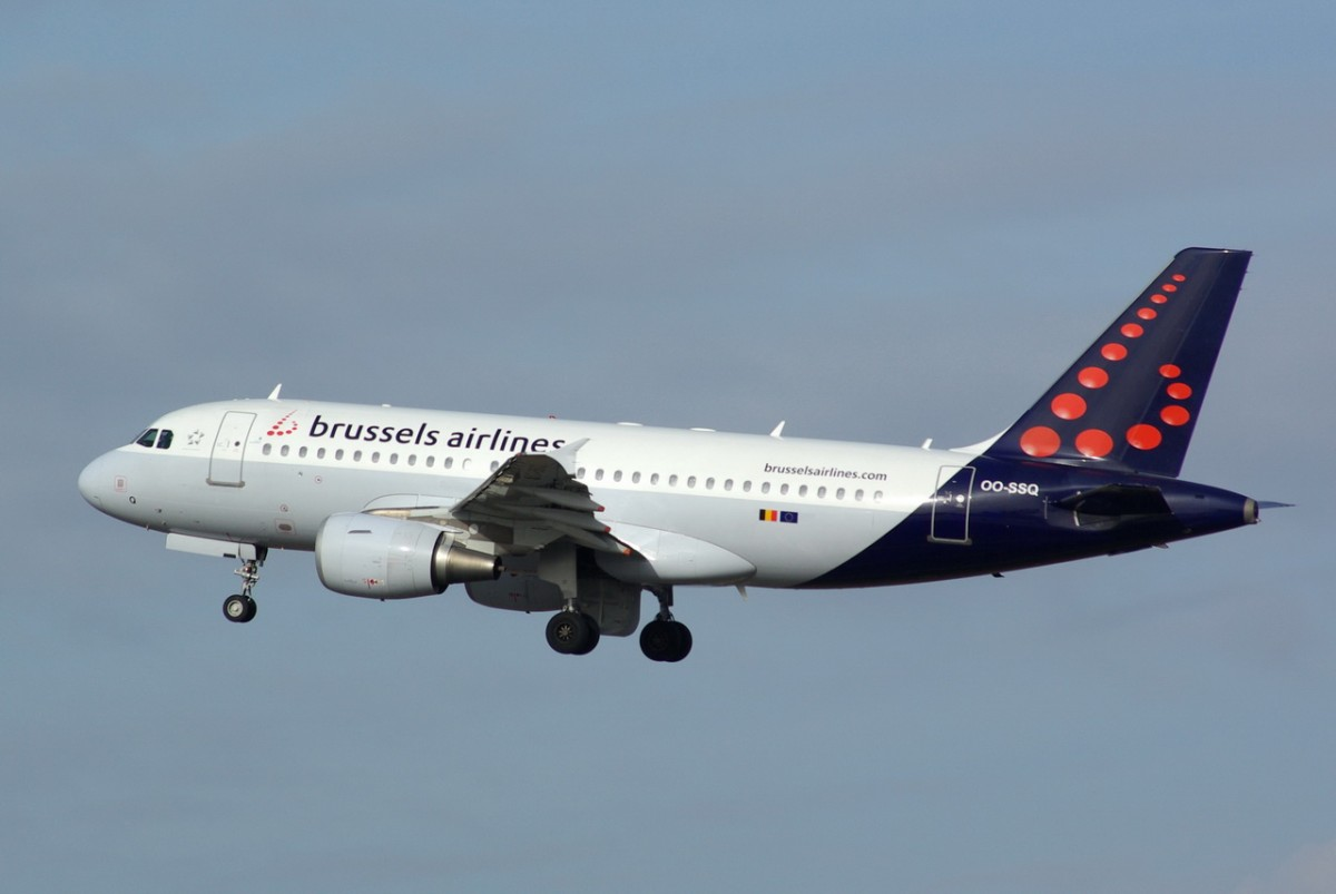OO-SSQ Brussels Airlines Airbus A319-112    17.02.2014  Berlin-Tegel