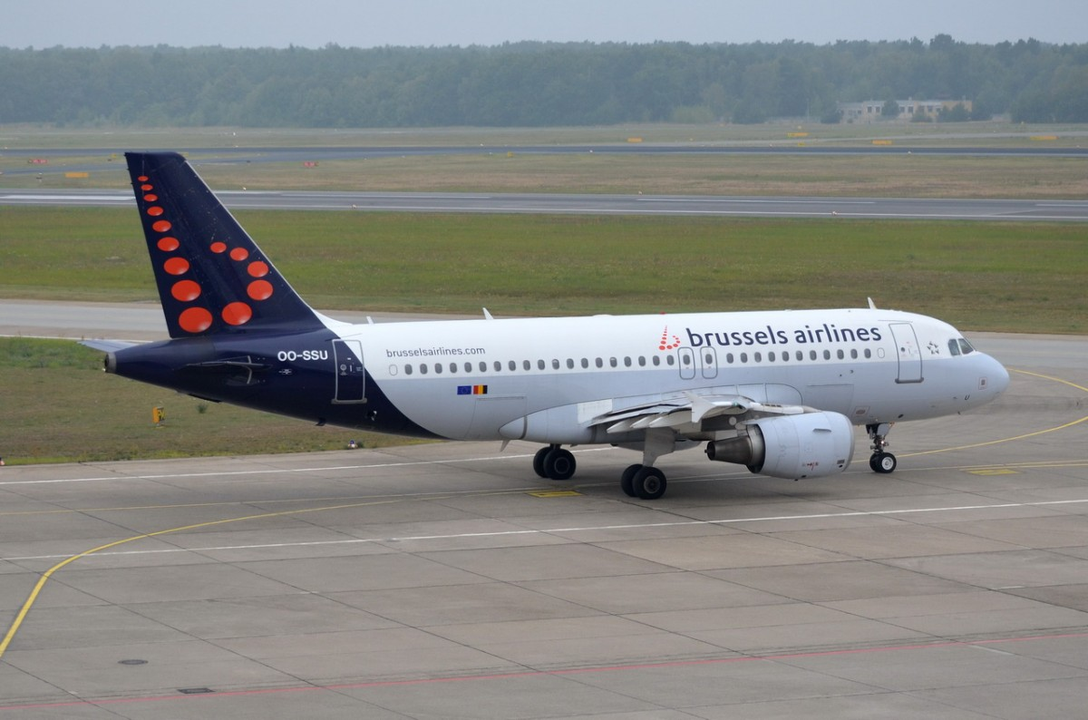 OO-SSU Brussels Airlines Airbus A319-111    zum Start am 08.09.2014 in Tegel