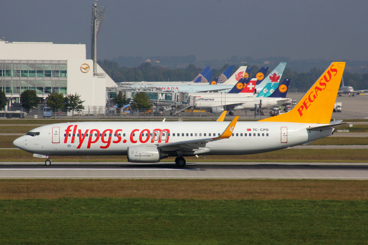 Pegasus Airlines, TC-CPO, Boeing 737-8AS, 25.September 2016, MUC München, Germany.
