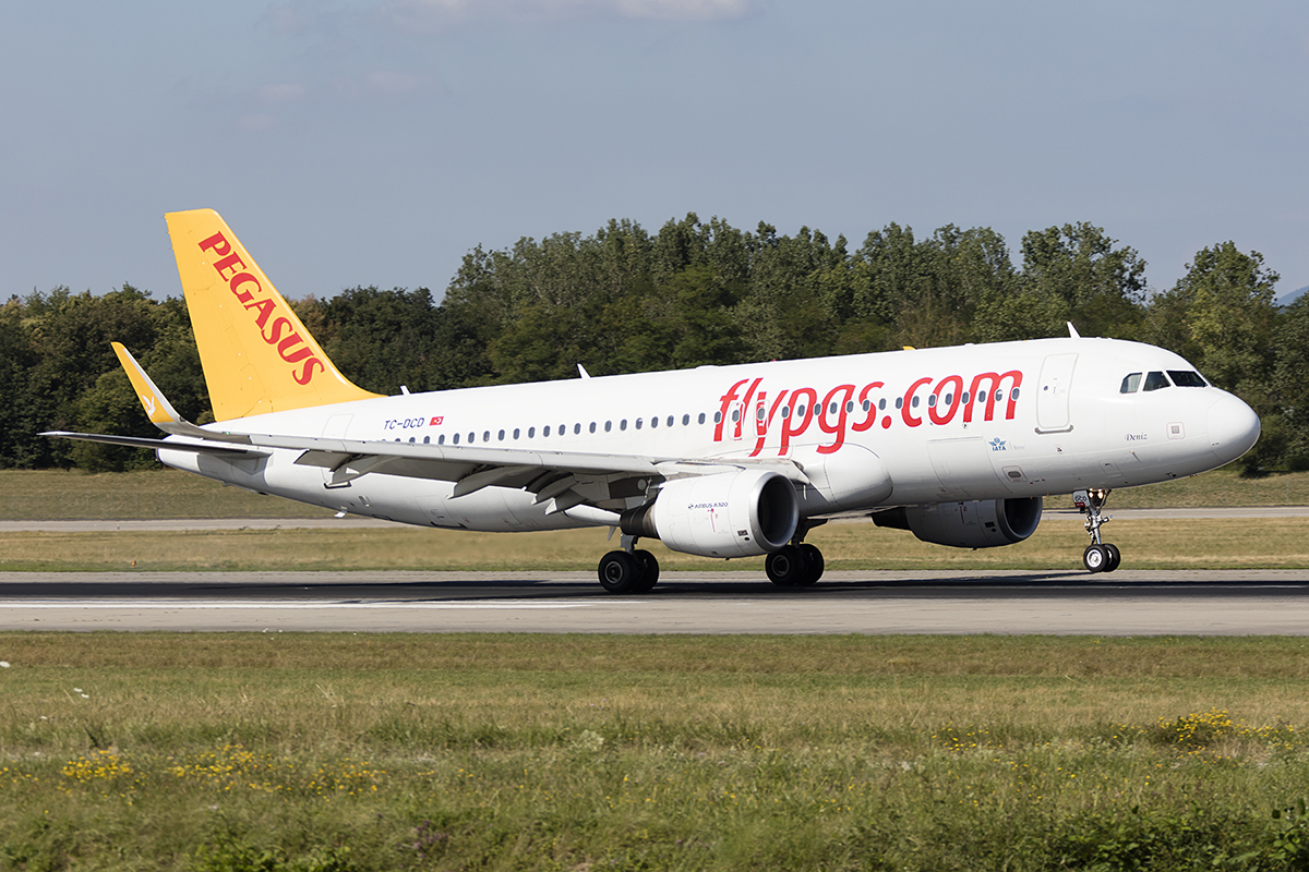 Pegasus Airlines, TC-DCD, Airbus, A320-214, 12.07.2018, BSL, Basel, Switzerland