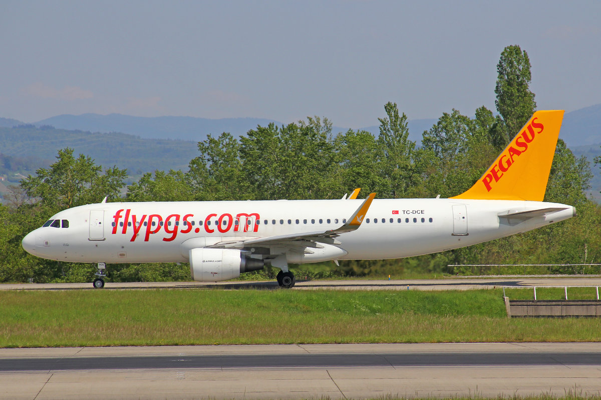Pegasus Airlines, TC-DCE, Airbus A320-216 SL,  8.Mai 2016, BSL Basel, Switzerland.