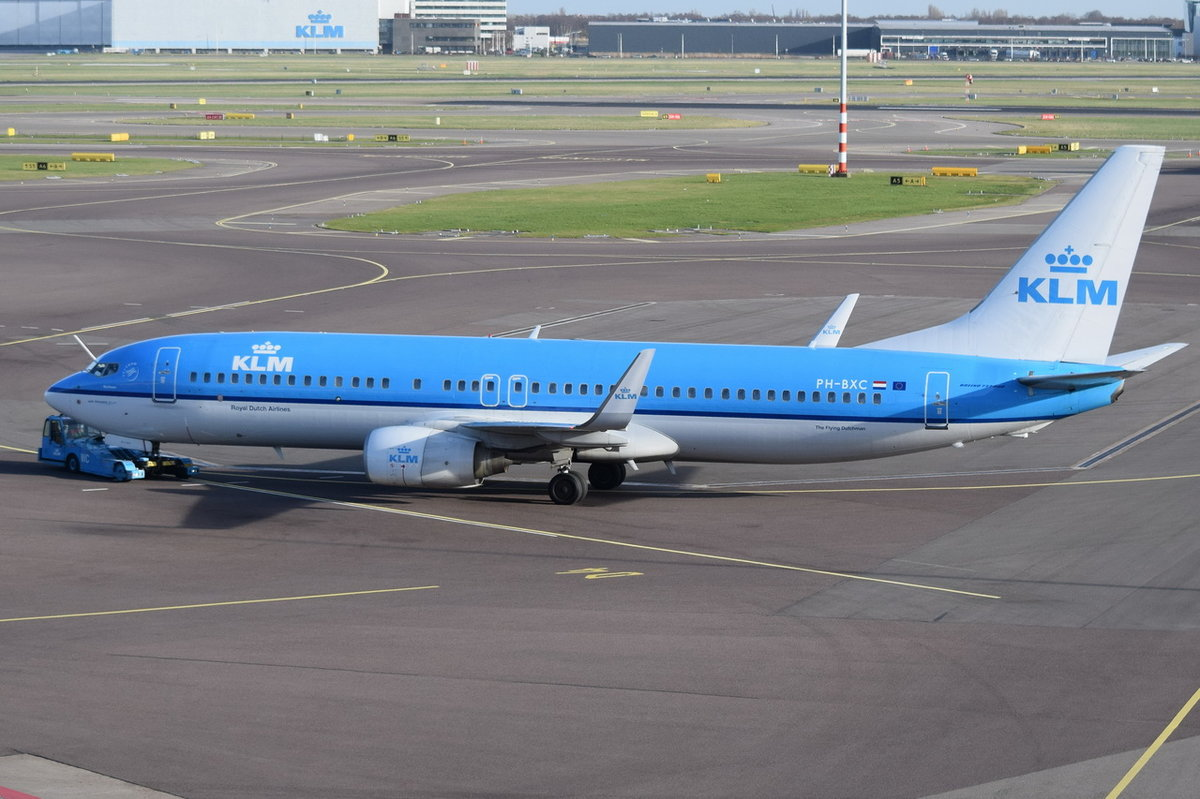 PH-BXC KLM Royal Dutch Airlines Boeing 737-8K2(WL)  , AMS , 13.03.2017