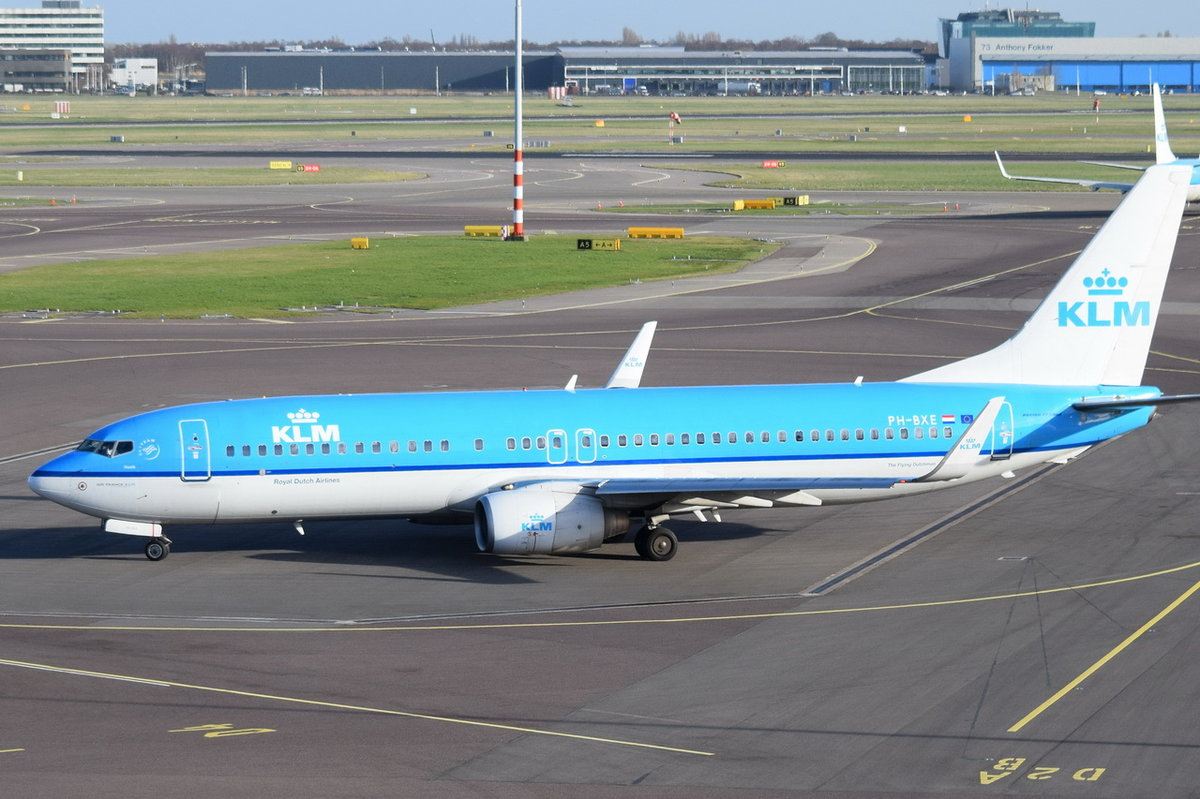 PH-BXE KLM Royal Dutch Airlines Boeing 737-8K2(WL)  , AMS , 13.03.2017