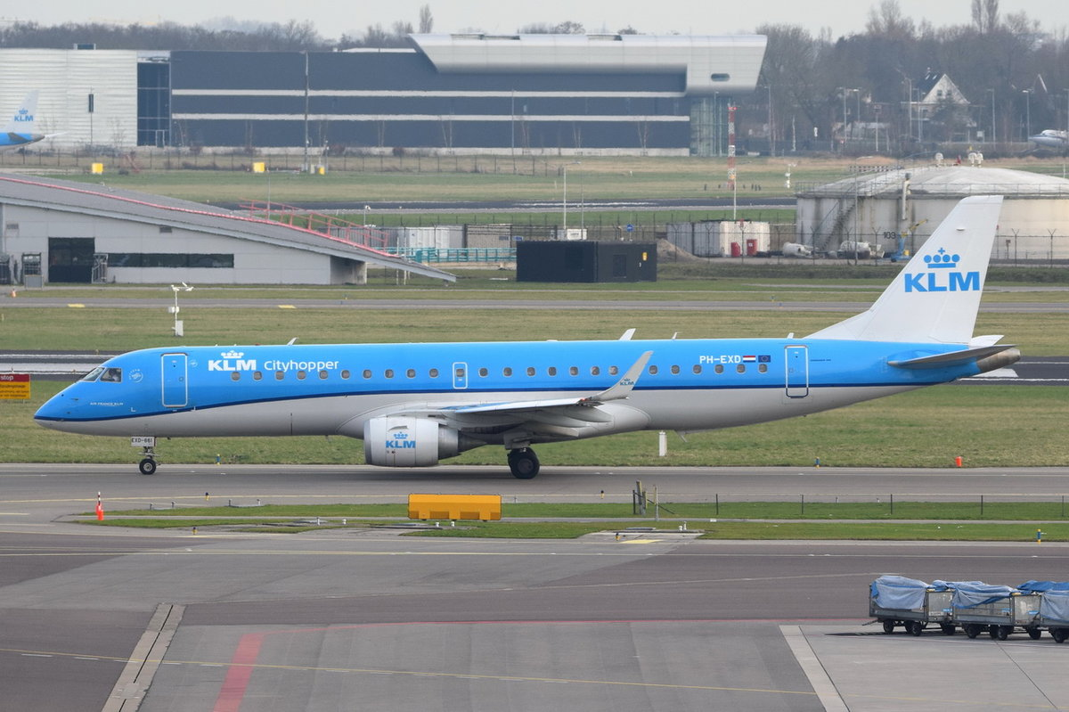 PH-EXD KLM Cityhopper Embraer ERJ-190STD (ERJ-190-100) , AMS , 11.03.2017
