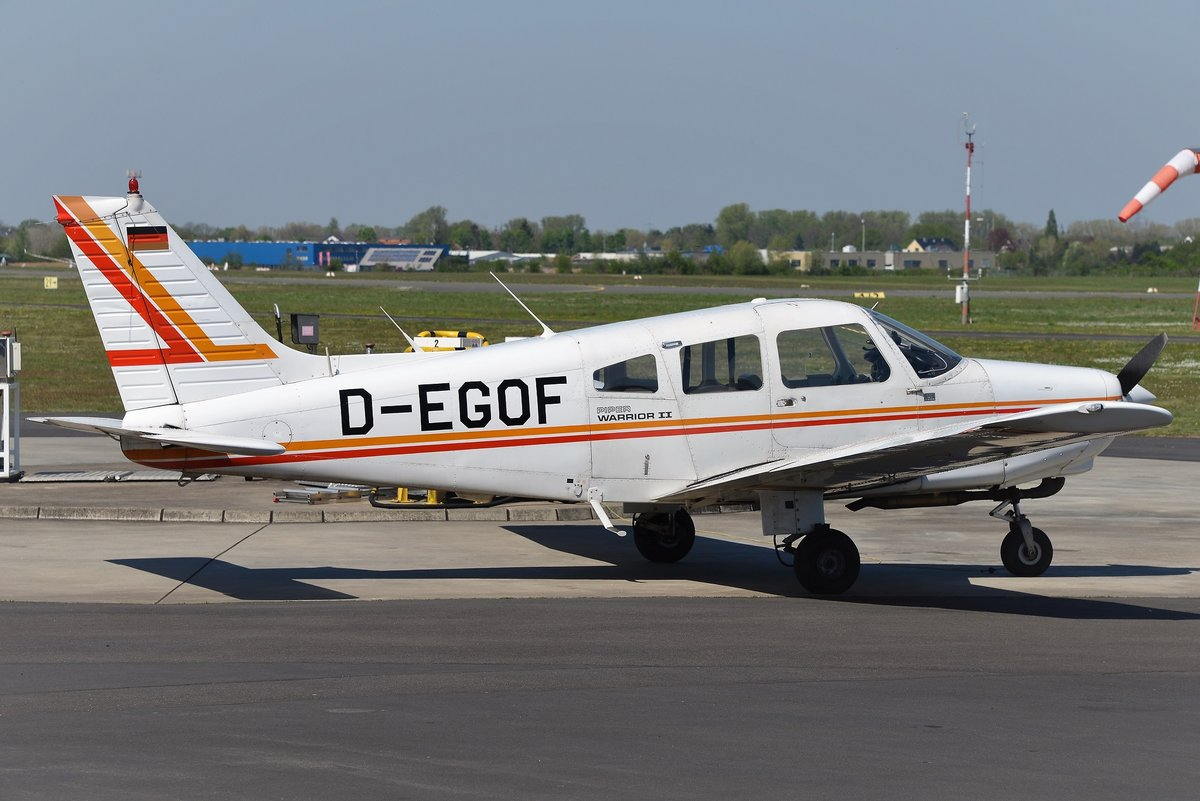 Piper PA-28-161 Warrior 2 - ATC Aviation Training & Transport Center GmbH - 28-8216122 - D-EGOF - 21.04.2019 - EDKB