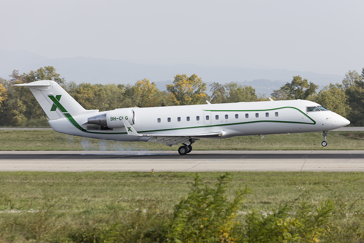 Private, 9H-CLG, Bombardier, CRJ-600-2B19 Challenger 850, 09.10.2018, BSL, Basel, Switzerland