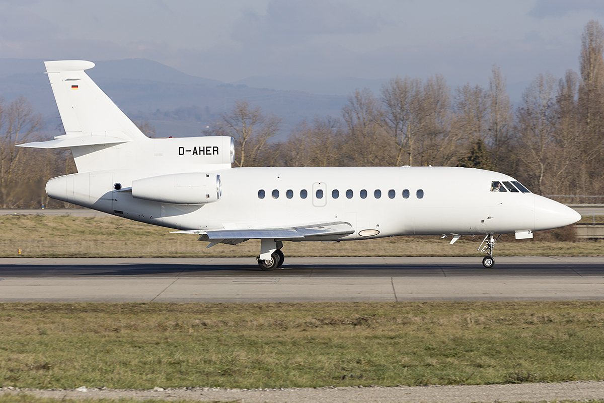 Private, D-AHER, Dassault, Falcon 900EX, 12.12.2018, BSL, Basel, Switzerland