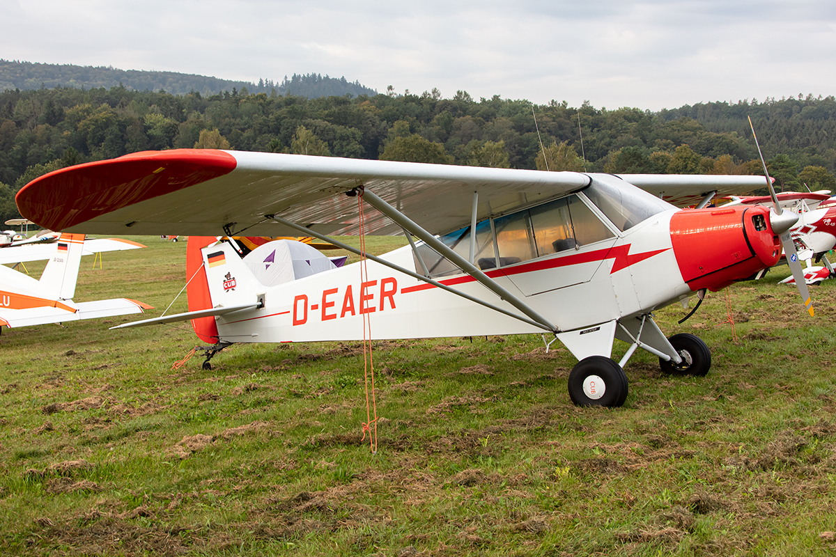 Private, D-EAER, Piper, L-18C Super Cub, 14.09.2019, EDST, Hahnweide, Germany