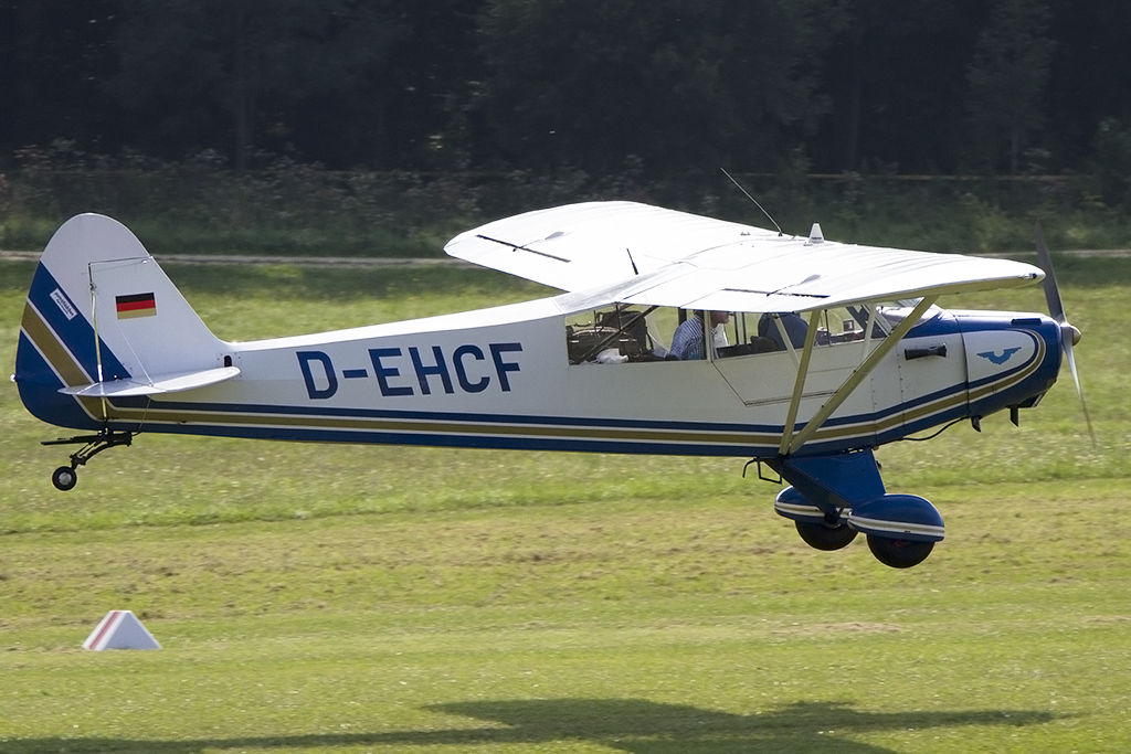 Private, D-EHCF, Piper, L-18C Super Cub, 06.09.2013, EDST, Hahnweide, Germany