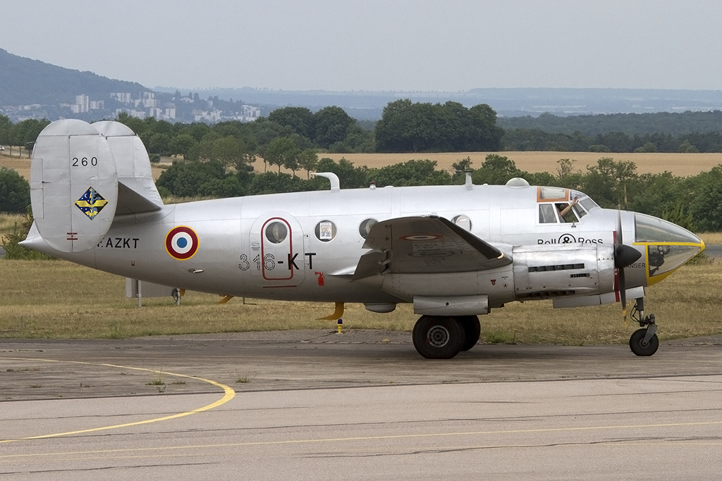 Private, F-AZKT, Dassault, MD-311 Flamant, 14.07.2014, LFSO, Nancy-Ochey, France