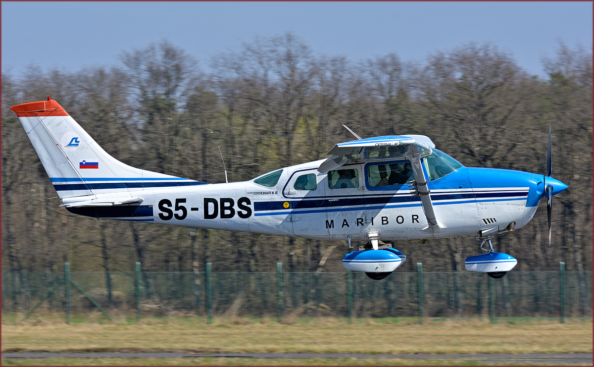 Private S5-DBS; Cessna Turbo Stationar 6; Maribor Flughafen MBX; 23.3.2019