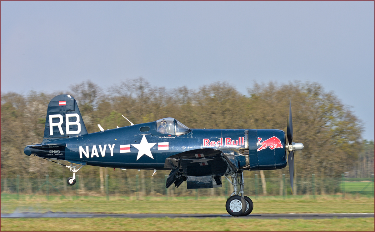 Red Bull OE-EAS; F4U Corsair; Maribor Flughafen MBX, Flying Bulls Training Camp: 3.4.2019