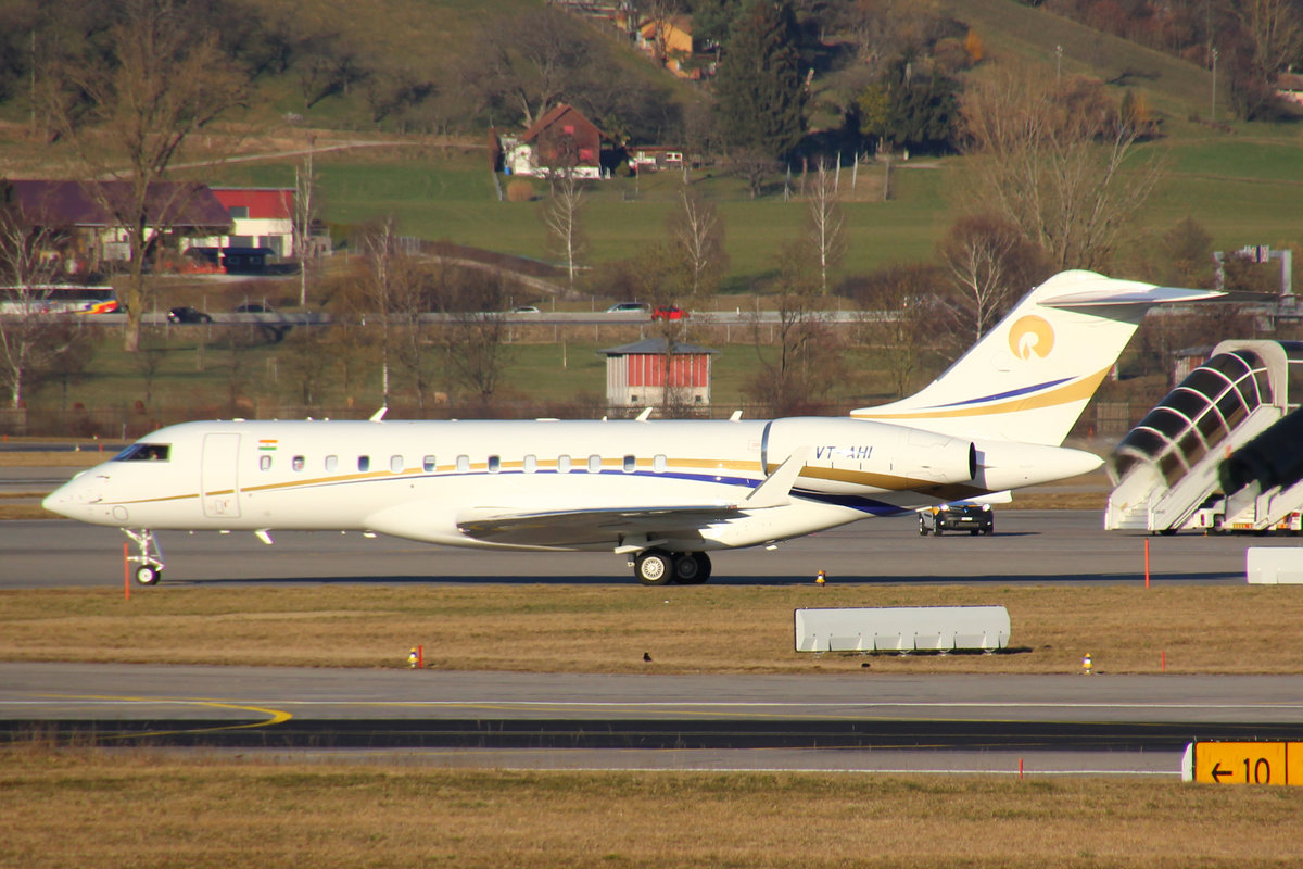 Reliance Commercial Dealers Pvt. Ltd., VT-AHI, Bombardier Global 6000, msn: 9651, 27.Februar 2019, ZRH Zürich, Switzerland.