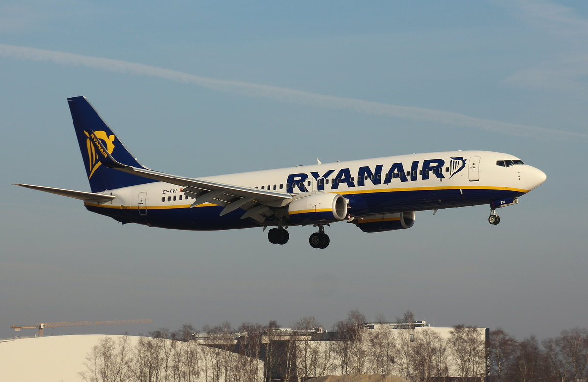 Ryanair, EI-EVI, (c/n 38502),Boeing 737-8AS(WL), 28.01.2017, HAM-EDDH, Hamburg, Germany