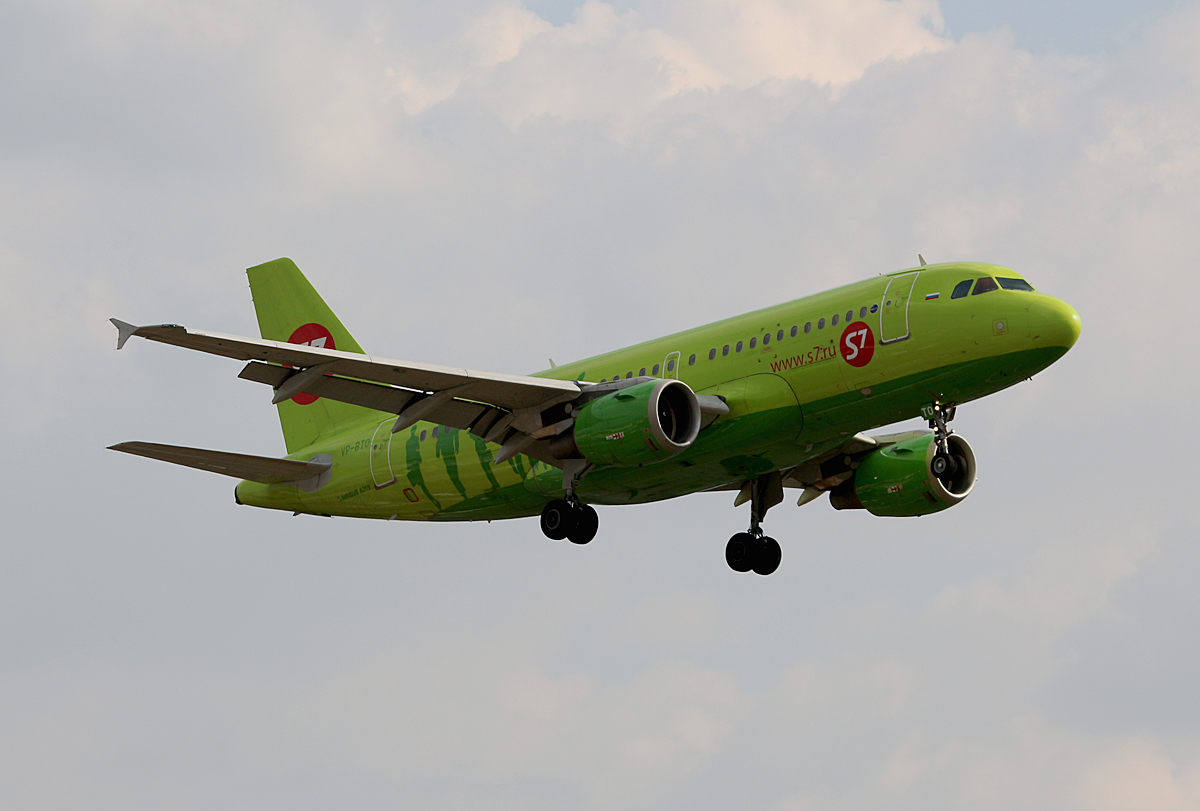S7 Airlines, Airbus A 319-114, VP-BTO, TXL, 23.09.2016