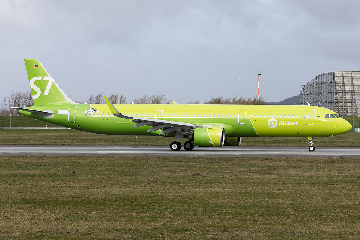S7 Airlines, D-AVZE (later Reg.: VQ-BDI), Airbus, A321-271N, 18.03.2019, XFW, Hamburg-Finkenwerder, Germany