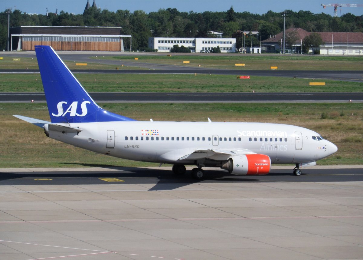 SAS Scandinavian Airlines, Boeing 737-600 LN-RRO @ Berlin-Tegel (TXL) 11Aug.2019