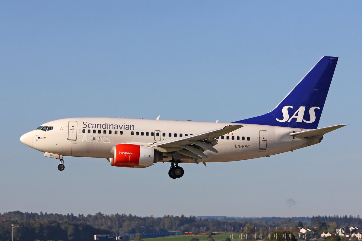 SAS Scandinavian Airlines, LN-RPG, Boeing 737-683, msn: 28310/255,  Geirmund Viking , 26.September 2018, ZRH Zürich, Switzerland.