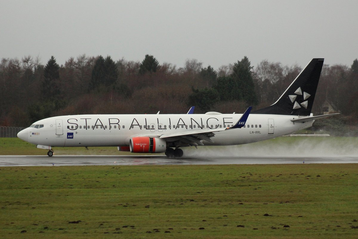 SAS Scandinavian Airlines, LN-RRL,MSN 28328, Boeing 737-883, 30.12.2017, HAM-EDDH, Hamburg, Germany (Star Alliance livery & Name: Jarlabanke Viking)