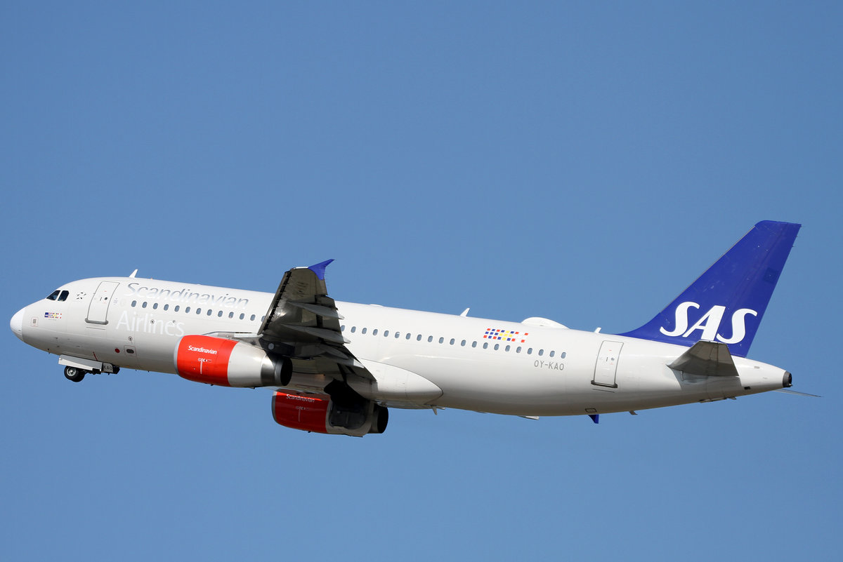 SAS Scandinavian Airlines, OY-KAO  Amled Viking , Airbus, A 320-232, DUS-EDDL, Düsseldorf, 21.08.2019, Germany
