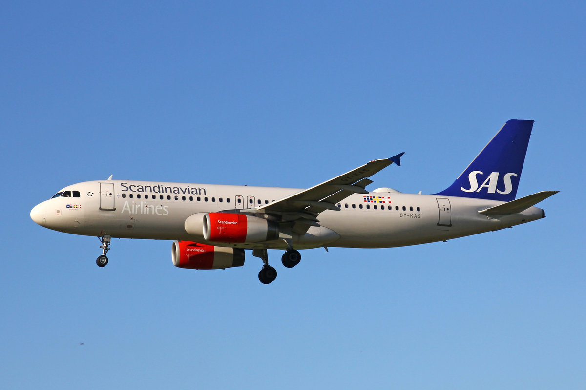 SAS Scandinavian Airlines, OY-KAS, Airbus A320-232, msn: 3335,  Igulfast Viking , 20.September 2019, ZRH Zürich, Switzerland.