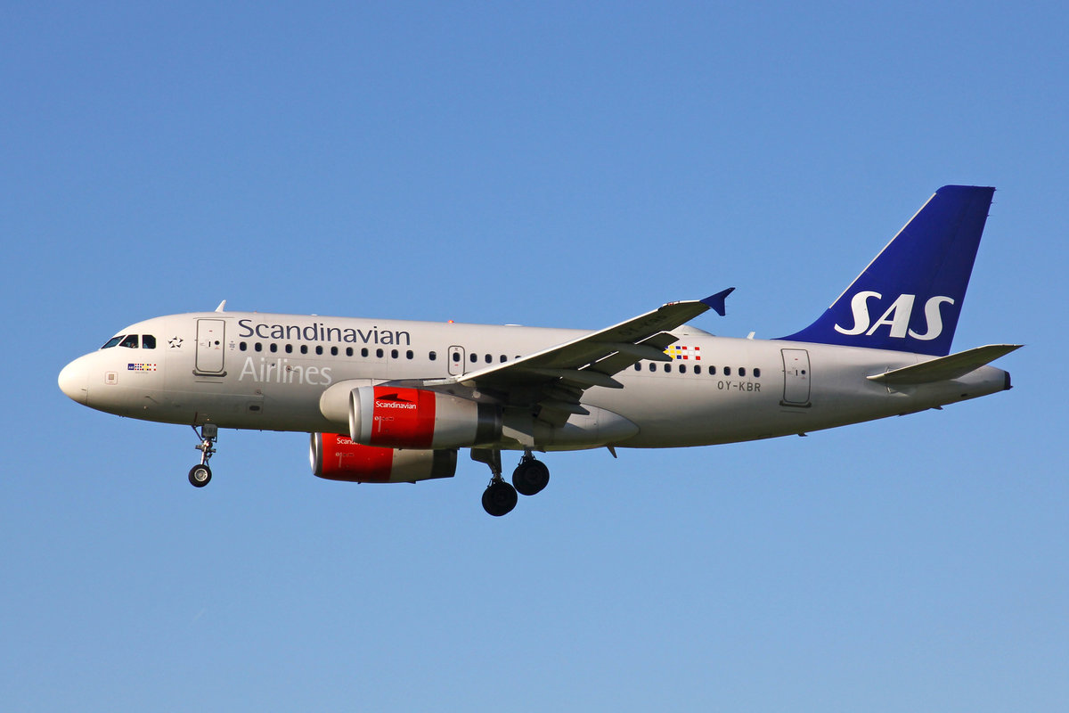 SAS Scandinavian Airlines, OY-KBR, Airbus A319-132, msn: 3231, 20.September 2019, ZRH Zürich, Switzerland.