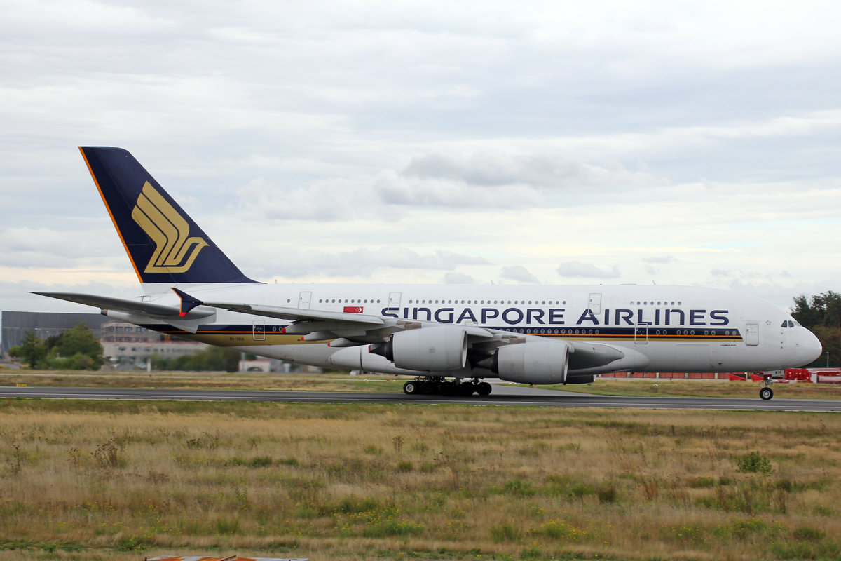 Singapore Airlines, 9V-SKH, Airbus A380-841, msn: 021, 29.September 2019, FRA Frankfurt, Germany.