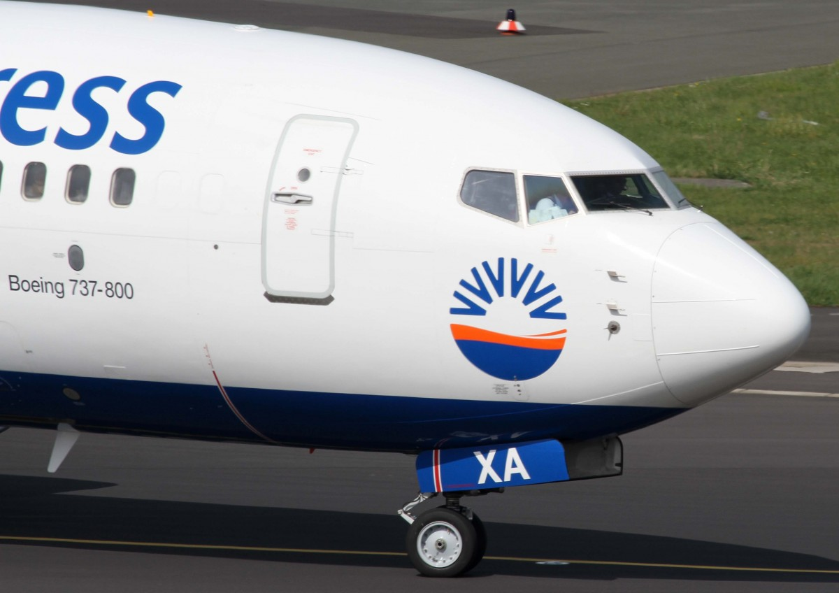 SunExpress Germany, D-ASXA, Boeing, 737-800 wl (Bug/Nose), 02.04.2014, DUS-EDDL, Düsseldorf, Germany