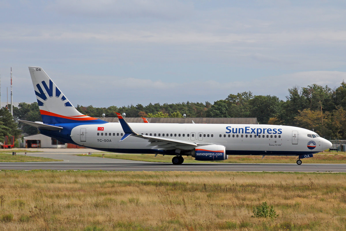 SunExpress, TC-SOA, Boeing 737-8HC, msn: 61184/5967, 29.September 2019, FRA Frankfurt, Germany.