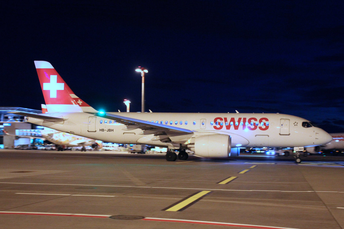 SWISS Global Air Lines, HB-JBH, Bombardier CS-100, 26.Dezember 2017, ZRH Zürich, Switzerland.