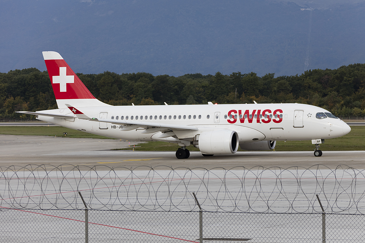 Swiss, HB-JBF, Bombardier, CS-100, 24.09.2017, GVA, Geneve, Switzerland