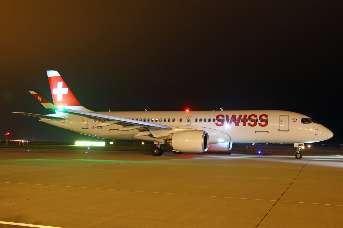 SWISS International Air Lines, HB-JCO, Bombardier CS-300, msn: 55033, 26.Dezember 2018, ZRH Zürich, Switzerland.