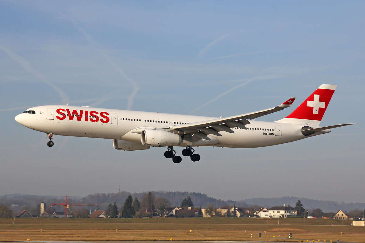 SWISS International Air Lines, HB-JHD, Airbus A330-343X,  St.Gallen , 15.März 2017, ZRH Zürich, Switzerland.