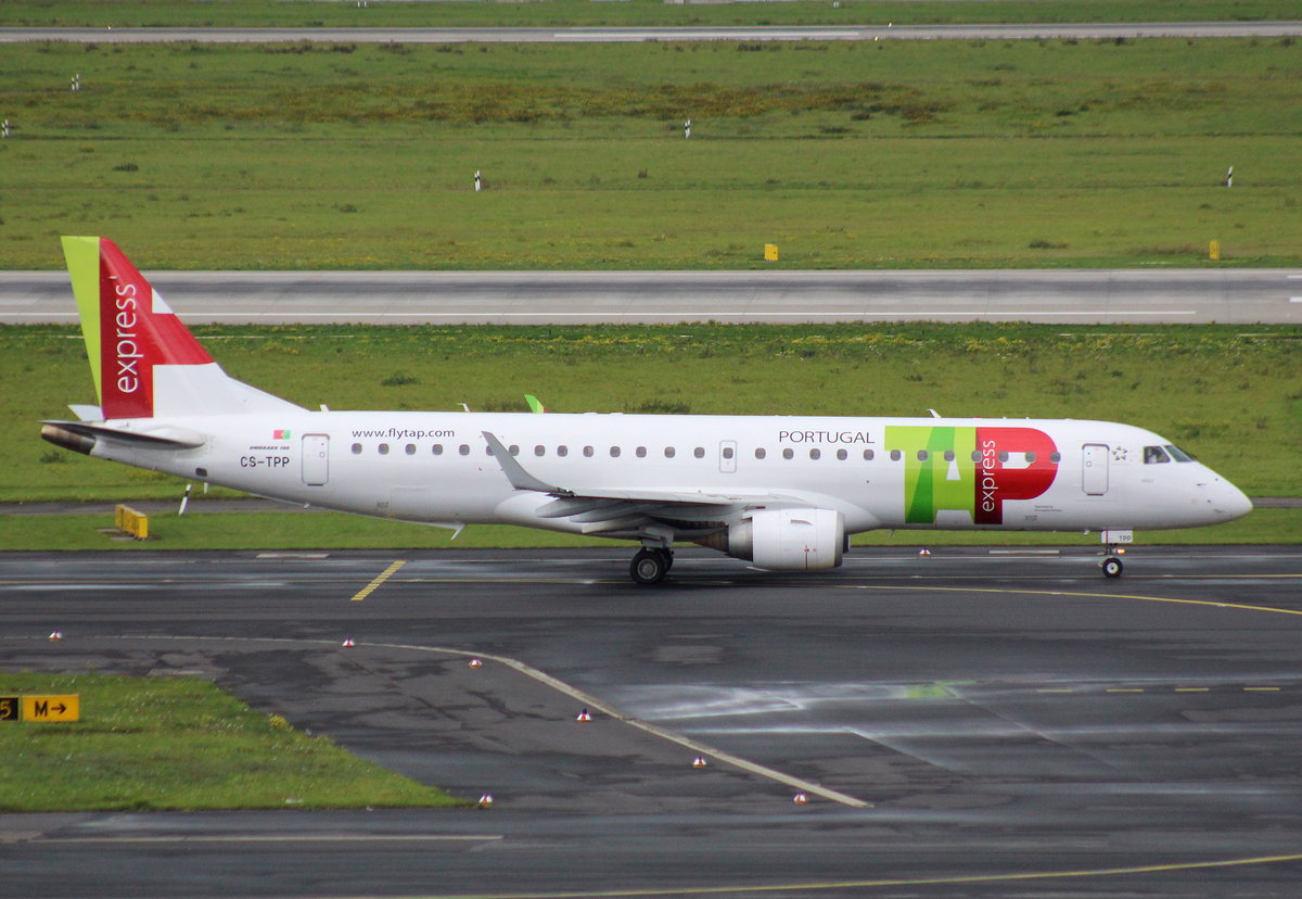 TAP Portugal Express, CS-TPP, MSN 190000441, Embraer ERJ190-100LR, 08.10.2017, DUS-EDDL, Düsseldorf, Germany (Name: Visen)