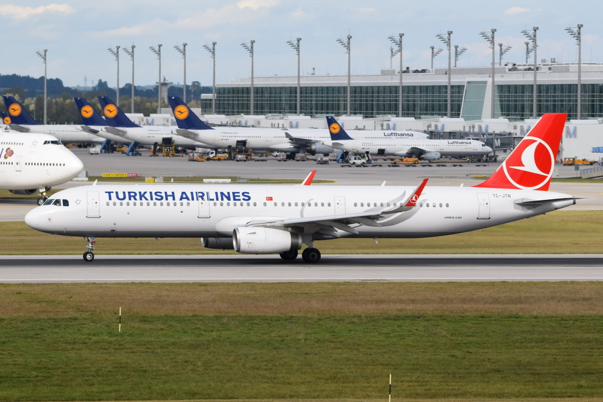 TC-JTN Turkish Airlines Airbus A321-231(WL)  , MUC , 15.10.2016