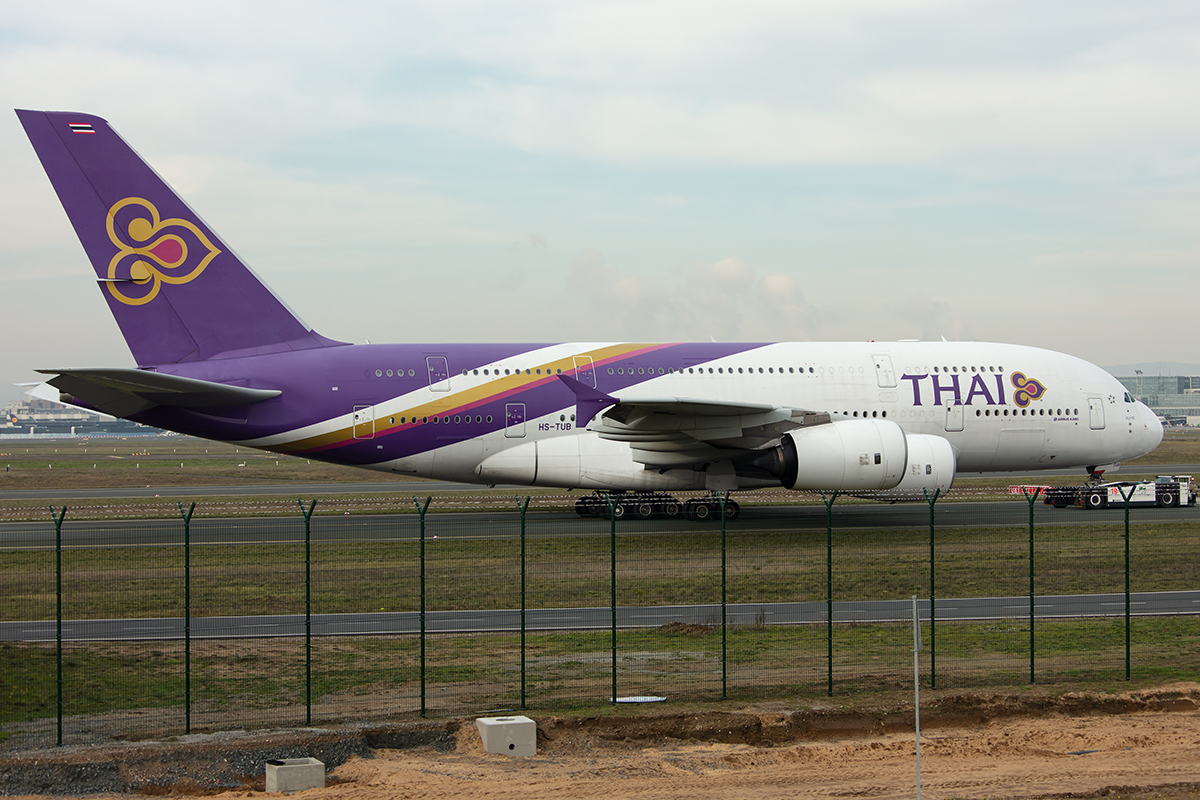Thai Airways, HS-TUB, Airbus, A380-841, 24.11.2019, FRA, Frankfurt, Germany