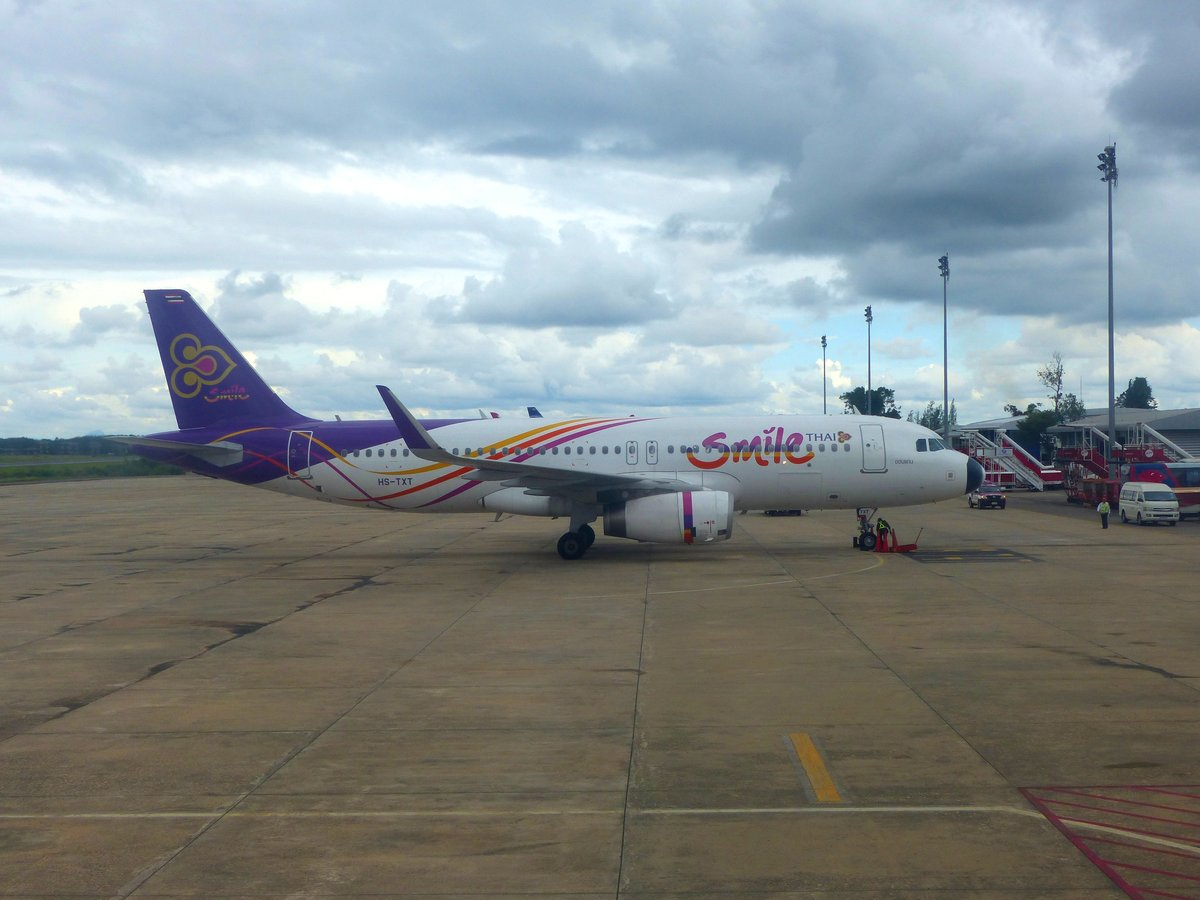 Thai Smile, Airbus a 320-232 (WL), HS-TXT, Krabi International Airport (KBV), 8.11.2018