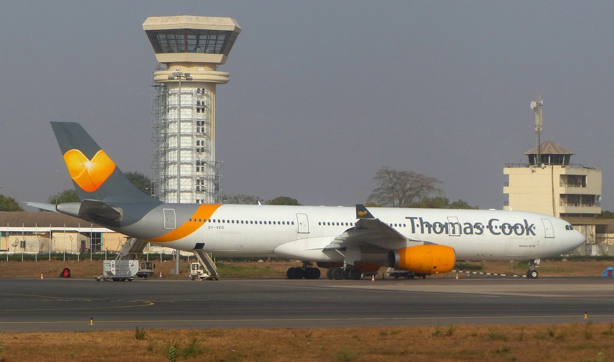 Thomas Cook Airlines, Airbus A 330-343, OY-VKG, Banjul International Airport (BJL), 26.2.2019