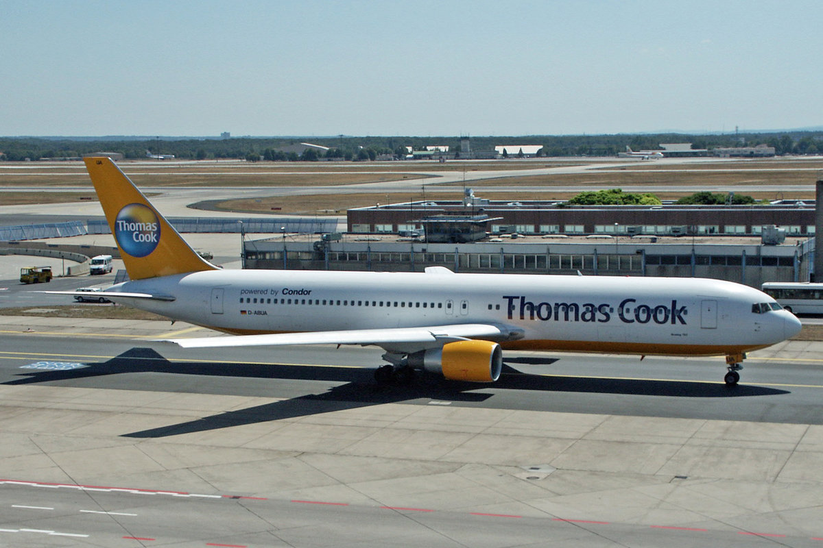Thomas Cook Powered by Condor, D-ABUA, Boeing 767-330ER, 19.Juli 2003, FRA Frankfurt, Germany.