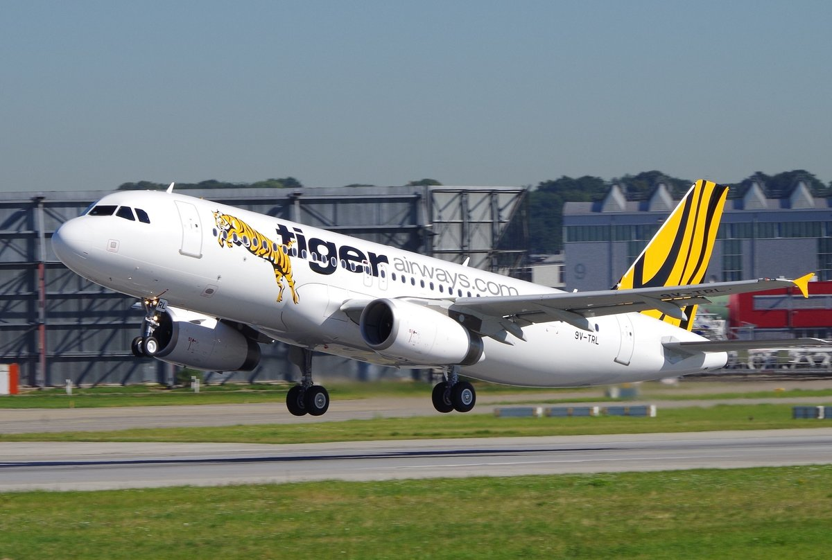 Tiger Airways  Airbus A320-200, 9V-TRL, delivery flight at 02.08.2013, Hamburg-Finkenwerder