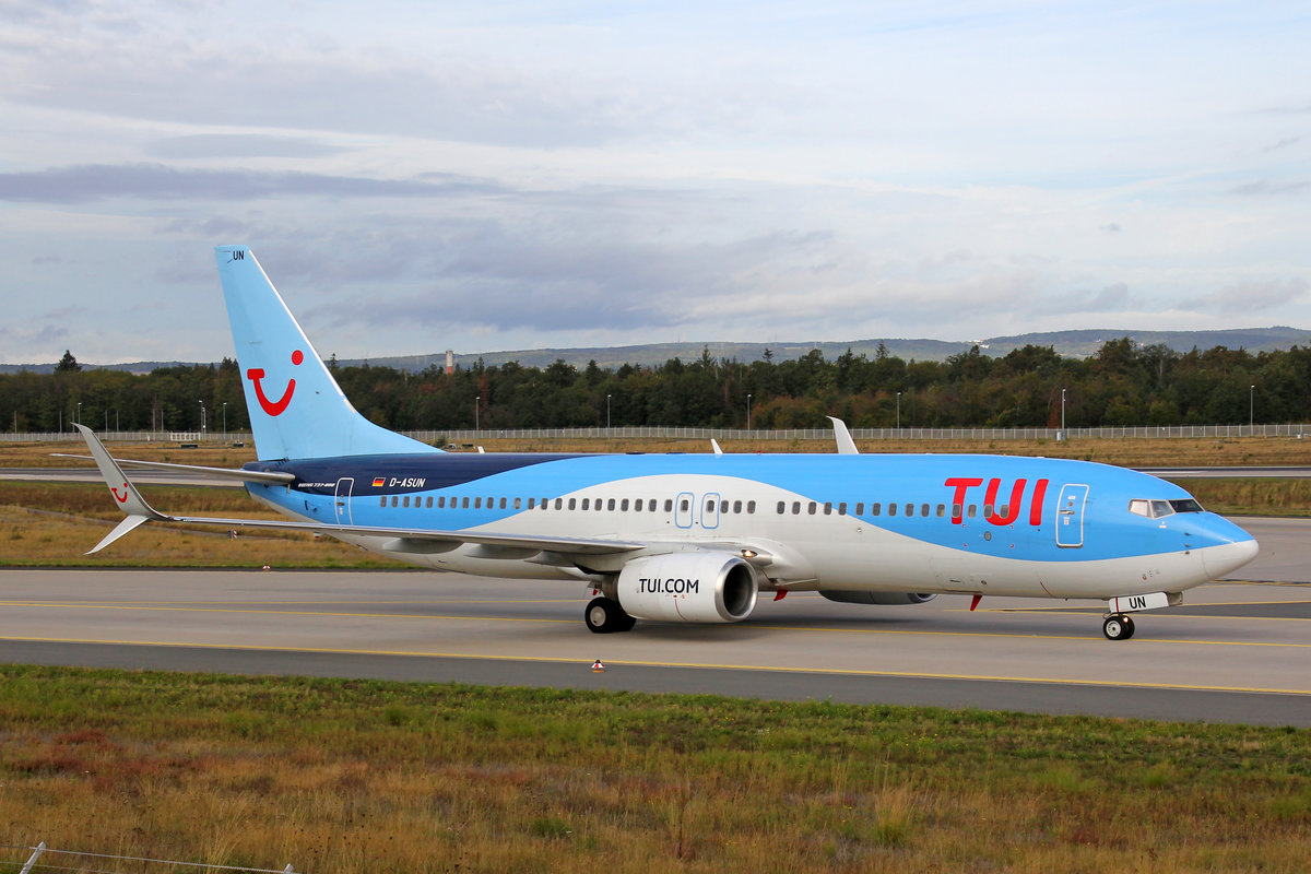 TUIfly, D-ASUN, Boeing 737-8BK, msn: 33023/1682, 29.September 2019, FRA Frankfurt, Germany.