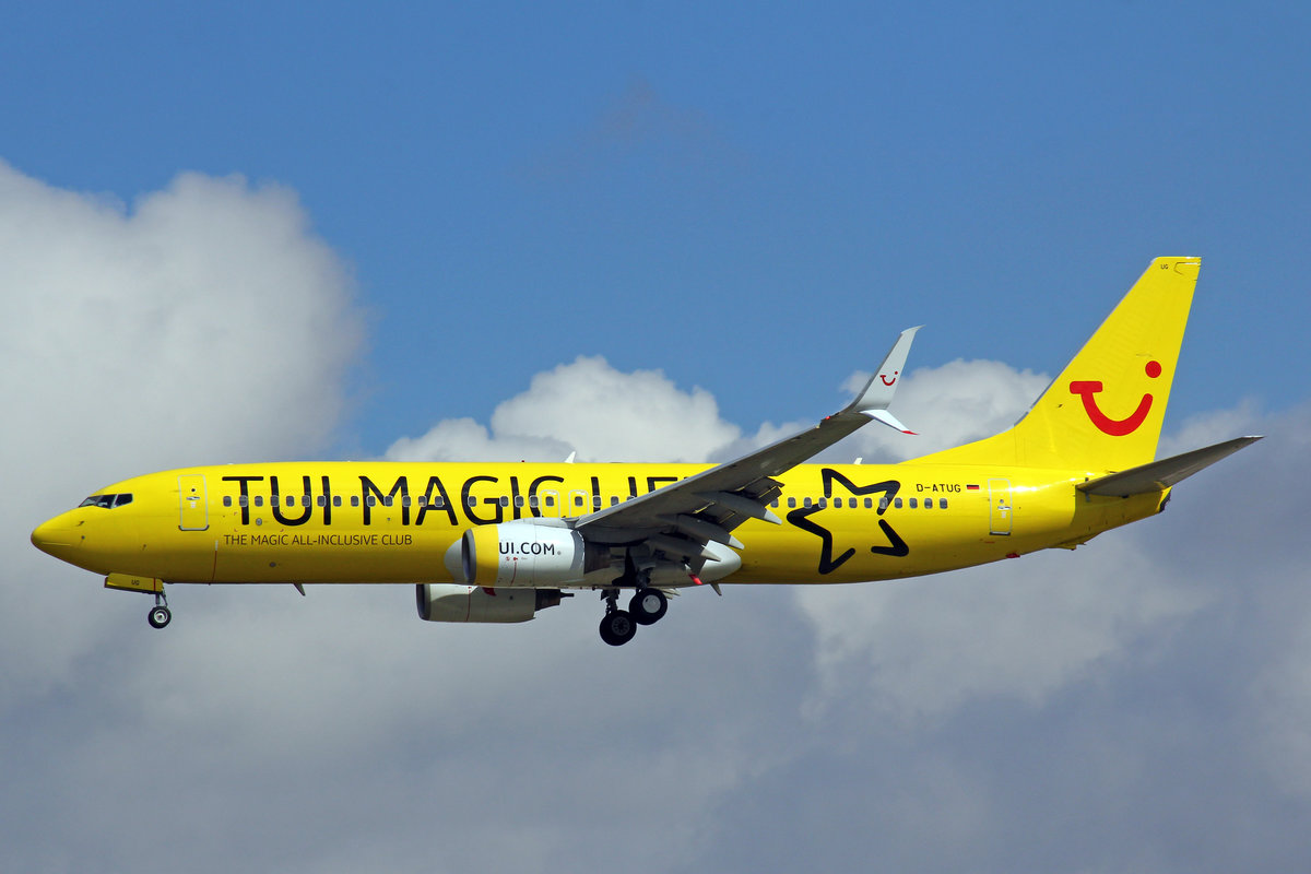 TUIfly, D-ATUG, Boeing 737-8K5,  TUI MAGIC LIFE , 20.Mai 2017, FRA Frankfurt am Main, Germany.