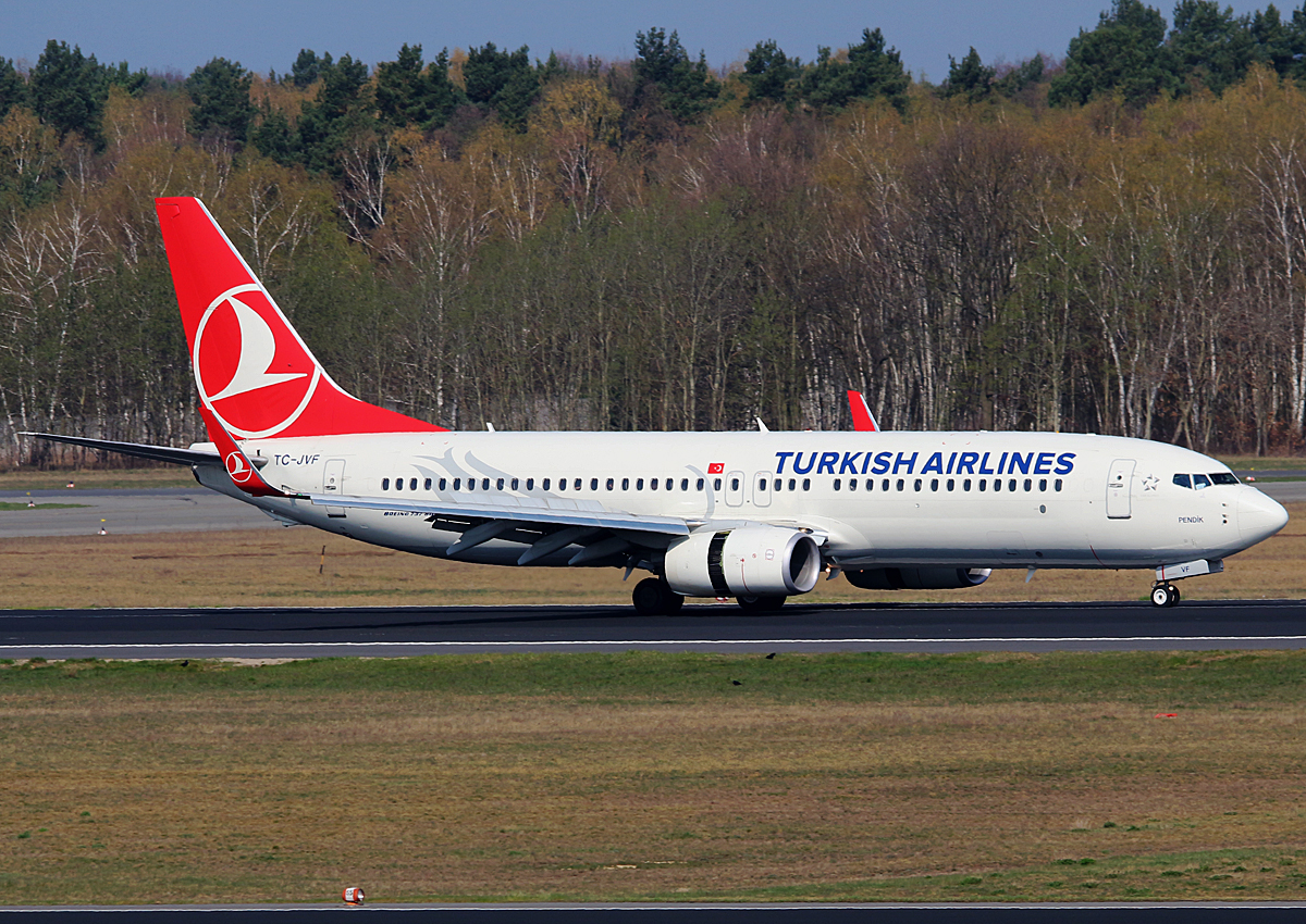 Turkish Airlines, Boeing B 737-8F2, TC-JVF, TXL, 09.04.2016