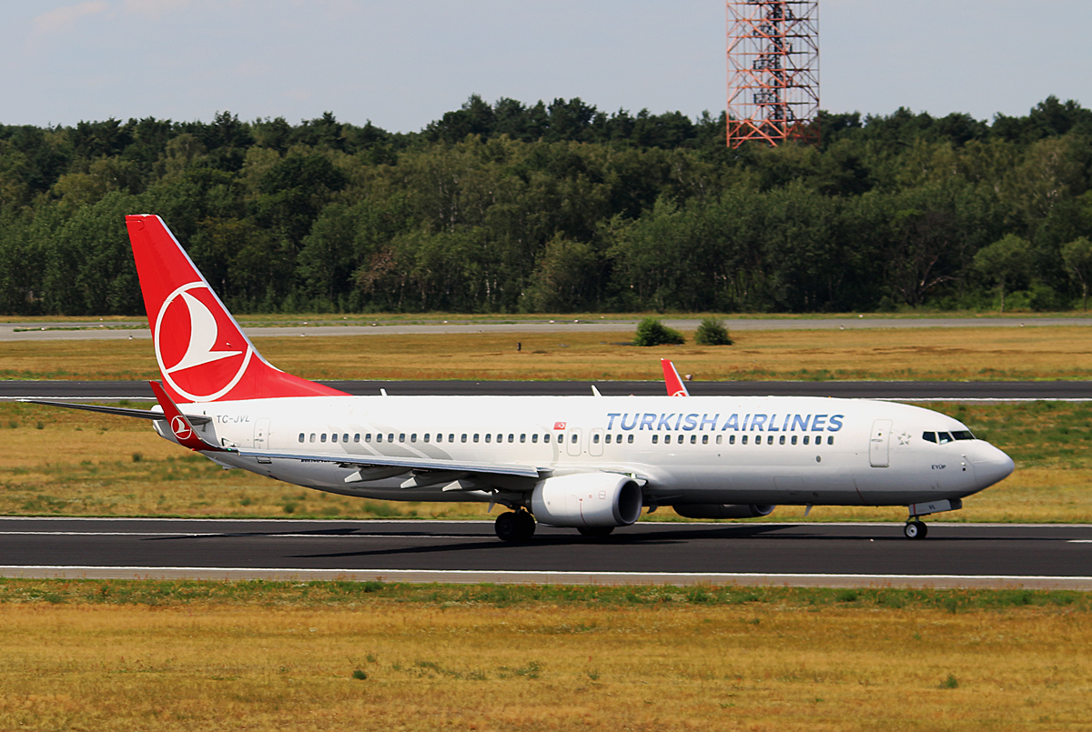 Turkish Airlines, Boeing B 737-8F2, TC-JVL, TXL, 20.07.2016