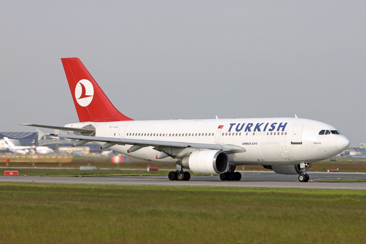 Turkish Airlines, TC-JCZ, Airbus A310-304, msn: 480,  Ergene , 19.Mai 2005, FRA frankfurt, Germany.