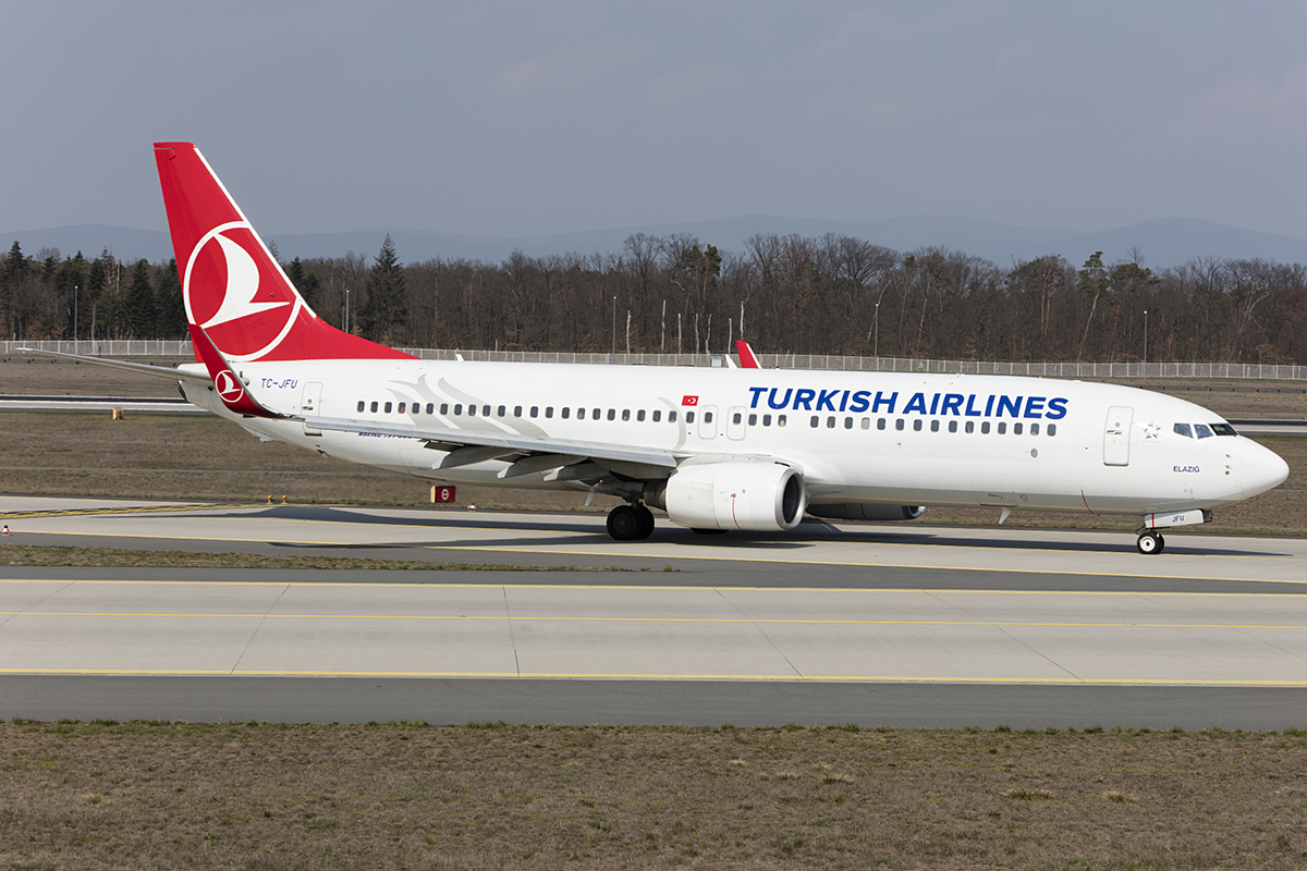 Turkish Airlines, TC-JFU, Boeing, B737-8F2, 31.03.2019, FRA, Frankfurt, Germany