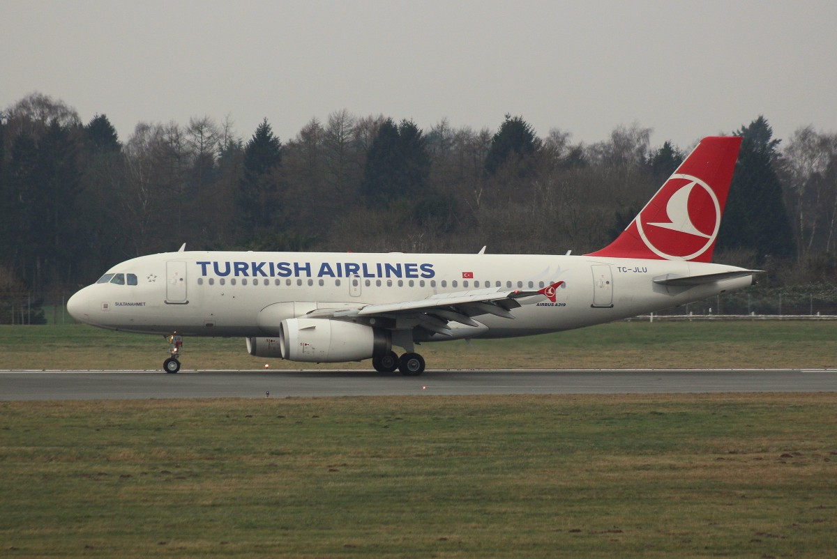 Turkish Airlines, TC-JLU,(C/N 4695),Airbus A 319-132, 03.01.2016,HAM-EDDH, Hamburg, Germany, (Taufname :Sultanahmed)
