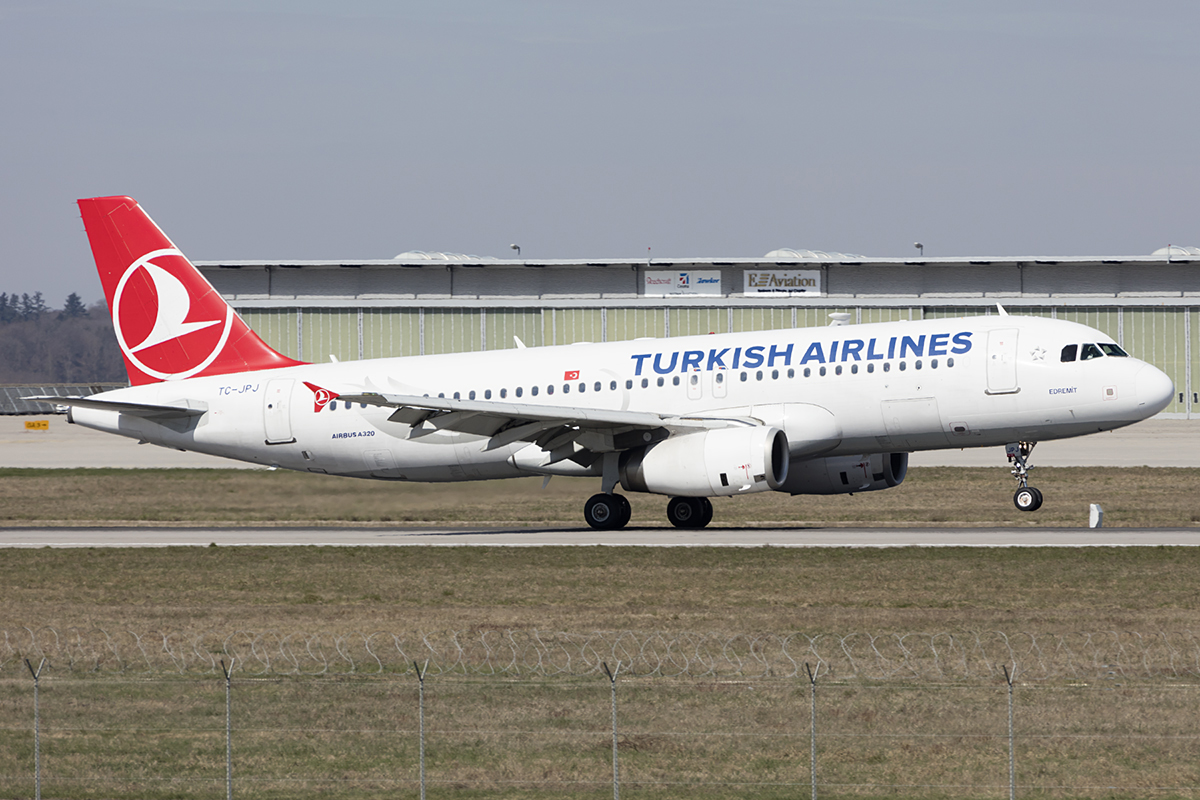 Turkish Airlines, TC-JPJ, Airbus, A320-232, 28.03.2019, STR, Stuttgart, Germany